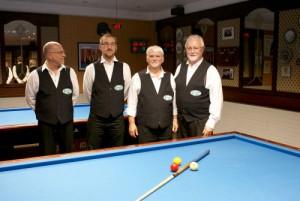 Nach dem Sieg gegen GBC III die 2. Mannschaft mit Mario Brosch , Jens Henseleit , Werner Plischka und Hennie Bult
